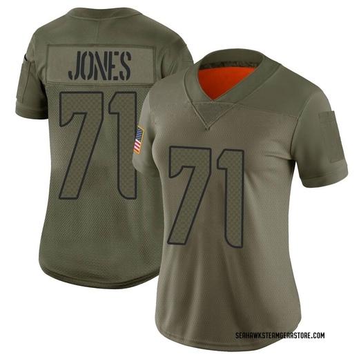 Walter Jones Women's Seattle Seahawks Nike 2019 Salute to Service Jersey - Limited Camo